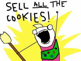 Sell ALL the Cookies! also 100th deviantion by DucksWithHair