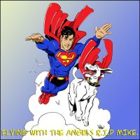 Wieringo Tribute...Superman and Krypto Coloured. by Highlander0423