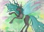 Chrysalis in watercolor by Winged-warrior