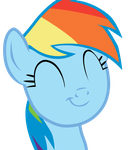 Rainbow Dash - Happy face by WaltherP38ita