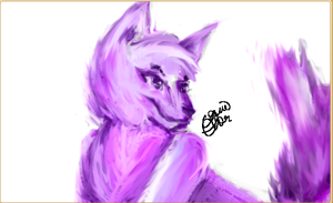 Aj wolf (drawn in aj) (speed paint in description) by conwolf
