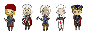 Assassin's Creed keychains by AleKaiLin