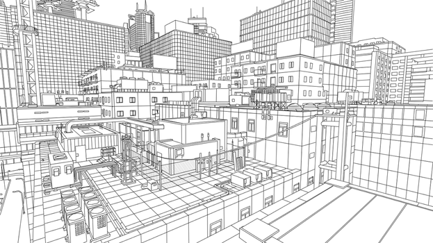 Mirror's Edge Drawing 1 by AAgam