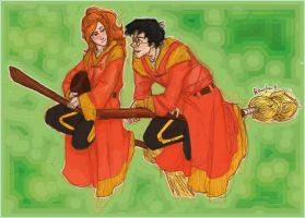 Harry and Ginny Colored :) by BlueberryCrazy