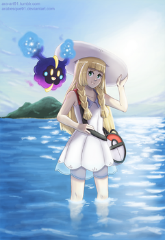 Lillie and Nebby - Pokemon Sun and Moon by Arabesque91