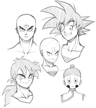 Dragon Ball Sketches by sassie-kay