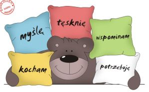 pillow teddy by asiaq