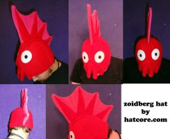 Zoidberg Hat with Finns Beanie Cosplay by HatcoreHats