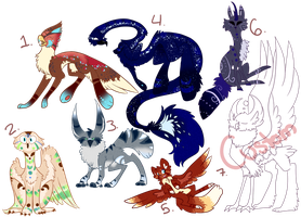 Designs/Adoptables Auction :Closed: by theperfecta