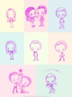 Inception Chibi Sketches by thatreevesgirl