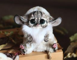 Inari Fox: Spotted beige with horns and wings by Santani