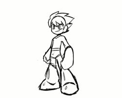 Rough MegaMan animation by rongs1234