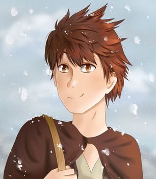 Freshly falling snow by DeviCaity