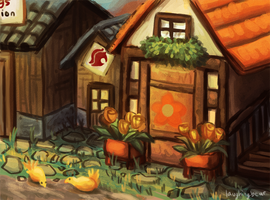 A Flower Shop by BearWithGlasses