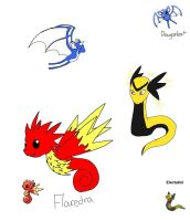 Pokemon fusions2 by SproutingArtist