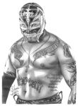 WWE Rey Mysterio Pencil Drawing by Chirantha