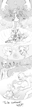 The Story (Part 1)(Minecraft comic)(Sketch) by AccursedAsche