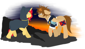 Request: Sunset Shimmer and Sora by Lucky-Jacky