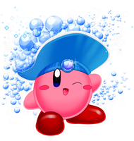 Kirby Collab: Bubble Kirby by Bowser2Queen