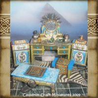 Egyptian Dollhouse Furniture by grimdeva