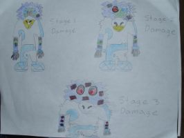 Damage Stages: Tranvis by SmashTekk
