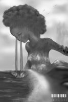 Mother nature CG Grayscale by mandymandii