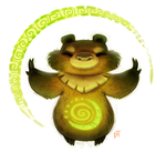 Day 569. Eclipse Bear (I swear I'm done lol) by Cryptid-Creations