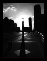 Morning Through a Street Lamp by aquapell