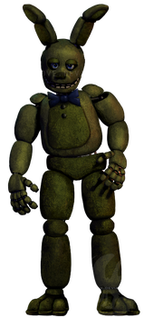 Non Withered Springtrap by GoldenNove