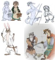 Pearls of Lutra Sketchdump by Professor-R