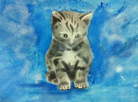 Traditional Painted Adoptables : Kitten by JeremyArts