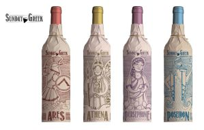 Wine bottle design lineup by bangalore-monkey