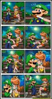 Luigi and Daisy - Awkward date by Princesa-Daisy
