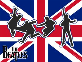 the beatles wallpaper by vanilla-tapes