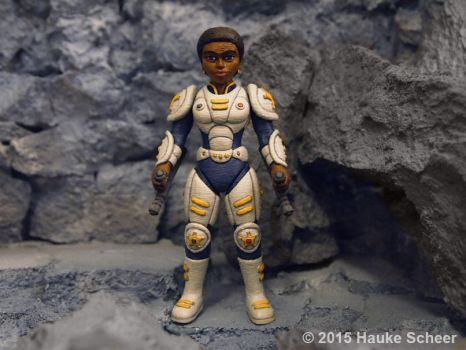 3D printed Female future police officer by hauke3000