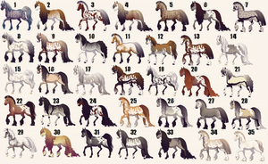 NAME YOUR PRICE Mass Horse Adoptables by SnowWhitesAngel