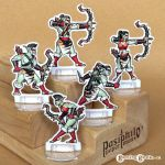 Red Clan Orc Hunters 28mm Paper Miniatures by Pasiphilo