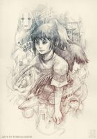 Spirited Away - pencil by EternaLegend