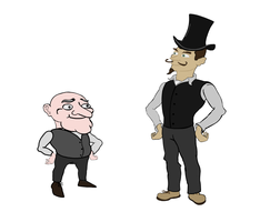Characters: Sir Wallowish and Winston by A-Pancake