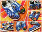 Shoes I painted for a gift by mandiemanzano