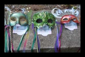 3 Commissioned Faire Masks by EMasqueradeGallery