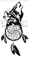 Wolven Dreamcatcher Tattoo by WildSpiritWolf