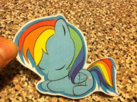 Rainbow Dash sticker by WillWorkForWaffles