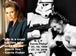 Rip to Carrie Fisher alias Princess Leia by CrazyKatix3