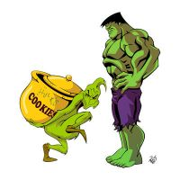 The Grinch and Hulk - COMMISSION by RickCelis
