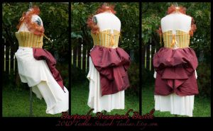 Steampunk Bustle : burgundy by taeliac