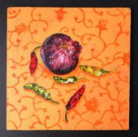 Onion and Three Chillies by twinibird