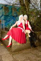 Fairy Tail Sisters - Lisanna and Mirajane Cosplay by PinkFluffyKitchicorn