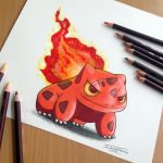 Bulbasaur Fire Starter Drawing by AtomiccircuS