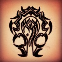 ~Horde Symbol (Warcraft)~ by Krystalleon
